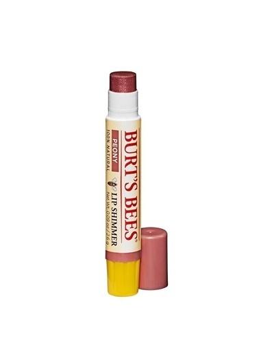Burt's Bees Lip Shimmer Lip Balm - %100 Doğal Yoğun Renkli ve Işıltılı Dudak Kremi Peony 2.6 gr Kırmızı